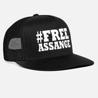 Freedom free assange - Trucker Cap