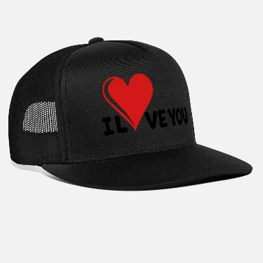 I Love U I LOVE YOU - Romance - Valentine's Day - Heart - Trucker Cap