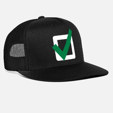 Allright Check Mark ok sign Icon - Trucker Cap