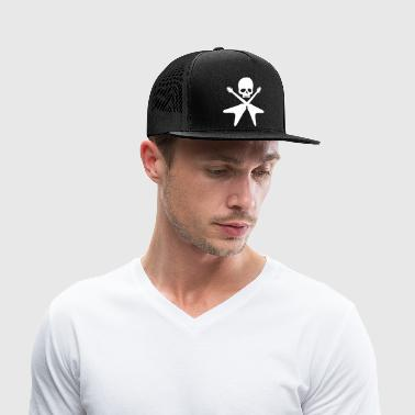 skull with crossed guitars - Trucker Cap