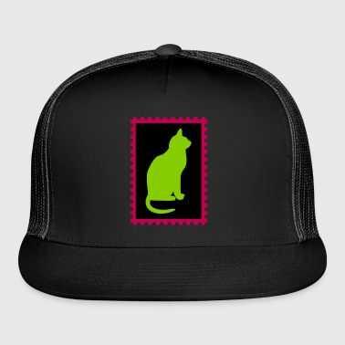 stamp with a cat - Trucker Cap
