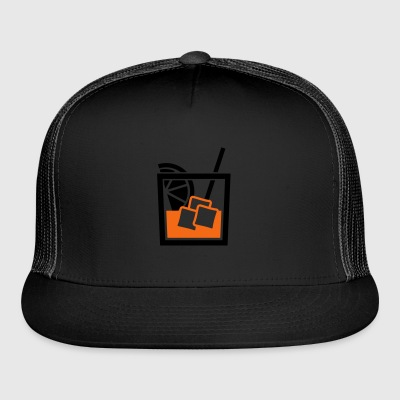 whiskey glass - Trucker Cap
