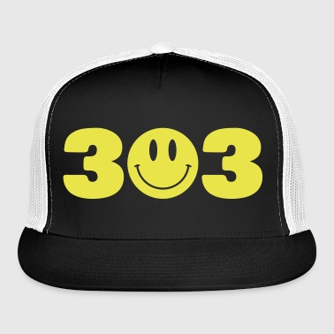 3 Smiley 3 - Trucker Cap