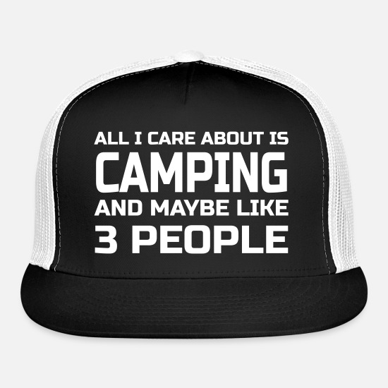 Camping Caps - Care about Camping - Trucker Cap black/white