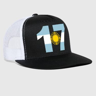 Argentinia Numbers, 17, Jersey Numbers Argentinia - Trucker Cap
