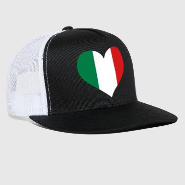 Italy Heart; Love Italy - Trucker Cap