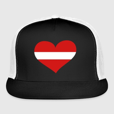 Latvia Heart; Love Latvia - Trucker Cap