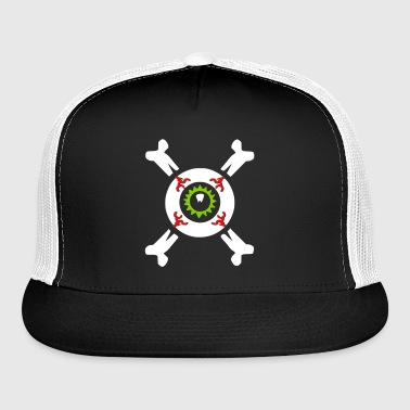Eyeball & Crossbones by Brian Benson dark t-shirts - Trucker Cap