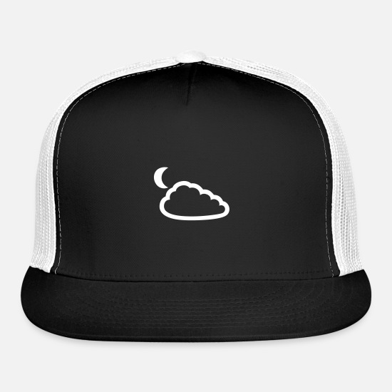Cloud Caps - Night Sky - Trucker Cap black/white