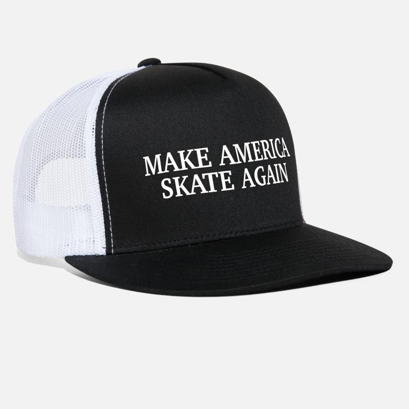 Again Caps - Make America Skate Again - Trucker Cap black/white