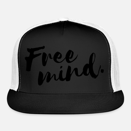 Symbol  Caps - free mind - Trucker Cap black/white
