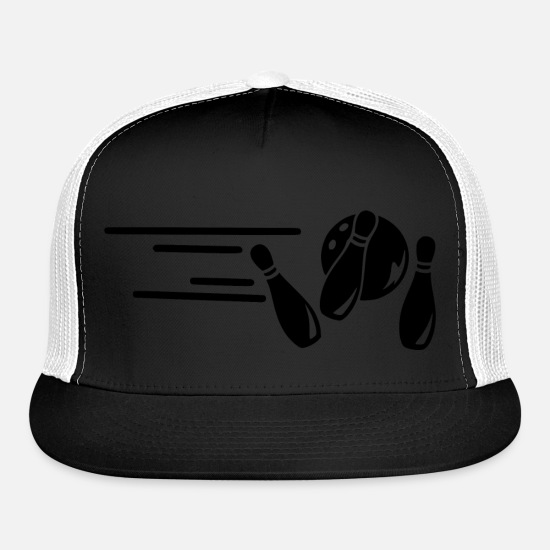 Birthday Caps - fast bowler 2 - Trucker Cap black/white
