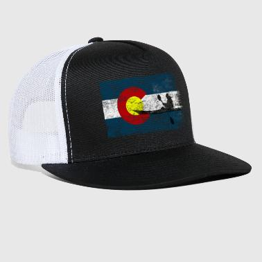 Whitewater Colorado Flag Kayak Paddling Kayaking Paddle Gift - Trucker Cap