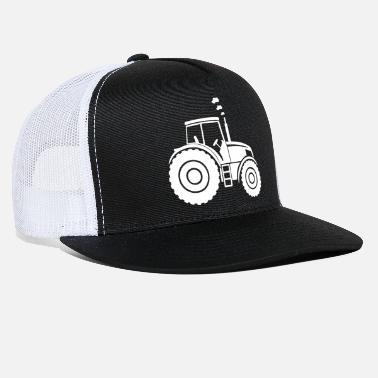 Cattle Agriculture tractor cow farmer gift - Trucker Cap