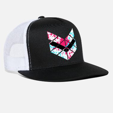 Paint Splatter SaMPL and HoLD Paint Splatter Logo - Trucker Cap