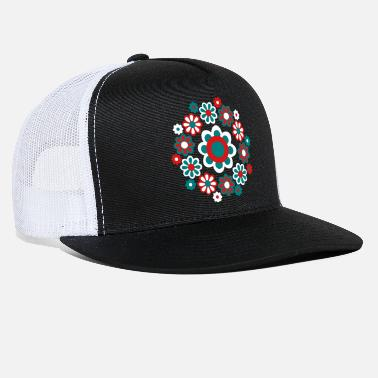 Mandala Floral Mandala by Cheerful Madness!! - Trucker Cap
