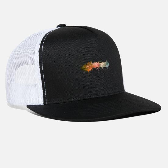 Diego Caps - San Diego skyline - Trucker Cap black/white