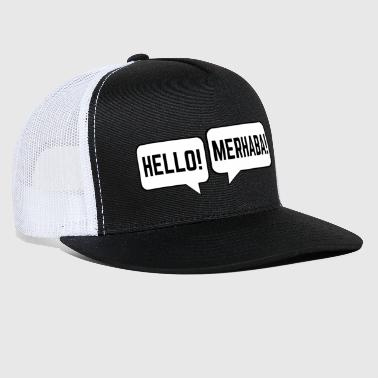 Turkish Speech Bubbles Turkish English Hello Merhaba - Trucker Cap