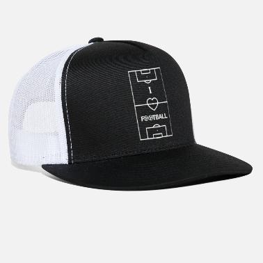 Football Field Soccer Field Football Field I Love Football - Trucker Cap