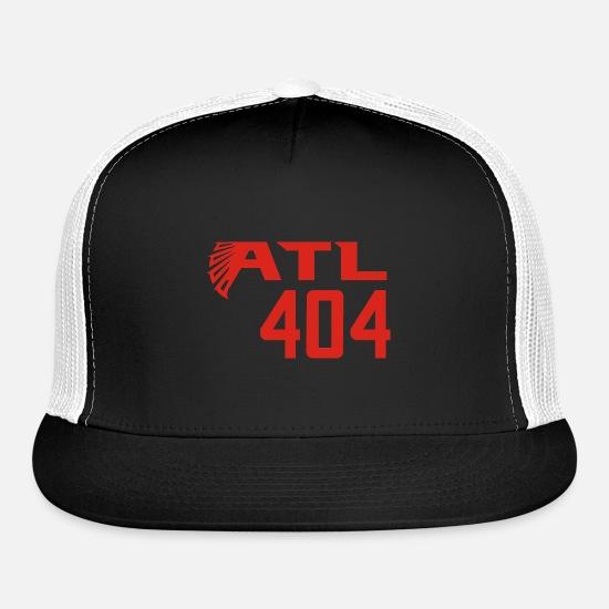 e8f420607 ATL 404 Atlanta Falcons Trucker Cap - black/black