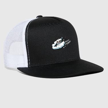 expedition ship in the ice - Trucker Cap