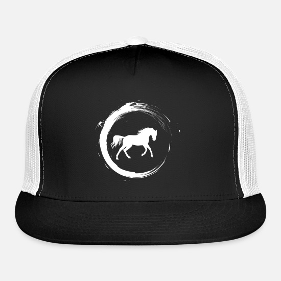 Horse Caps - Horse - Trucker Cap black/white
