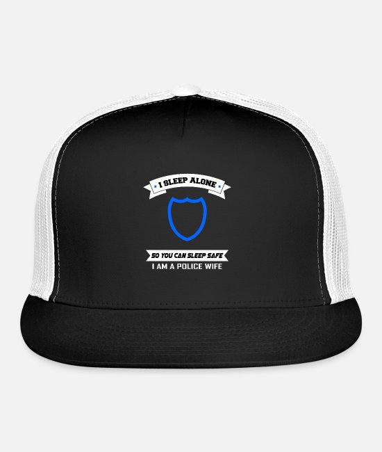 Criminal Caps & Hats - police officer gift protection woman wife job - Trucker Cap black/white