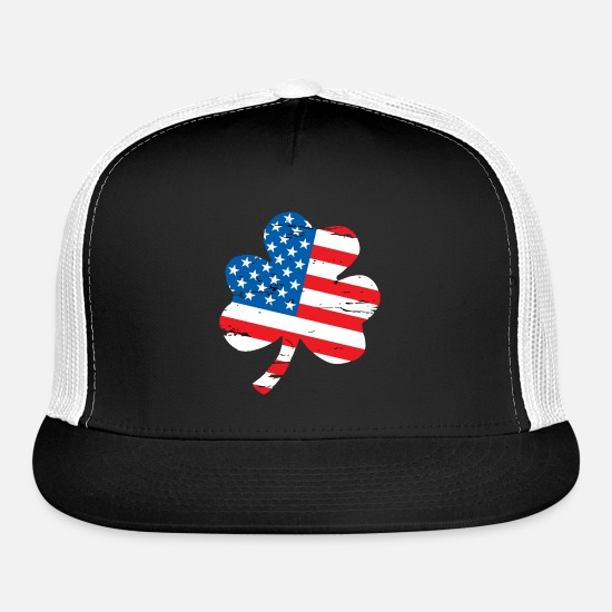 Movie Caps - CLOVER FLAG - Trucker Cap black/white