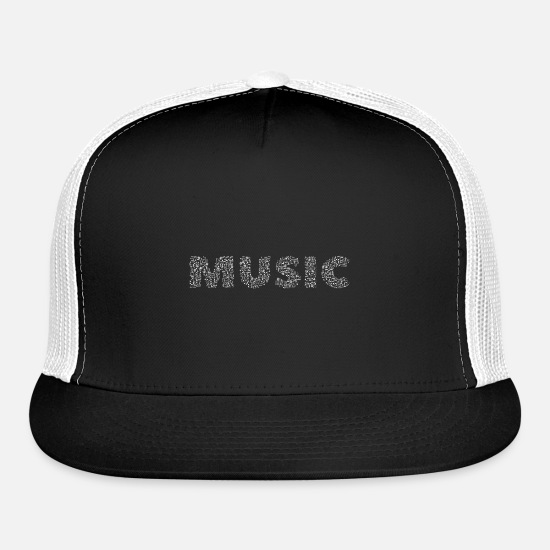 Gift Idea Caps - MUSIC - Trucker Cap black/white