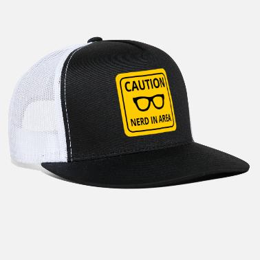 Caution nerd caution - Trucker Cap