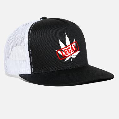 Ragga hanf legal Cannabis hemp gift smoke leaf idea - Trucker Cap
