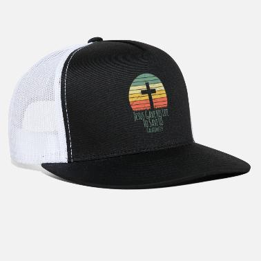Freak Sunset Jesus Gave his Life to Save Us, Christian - Trucker Cap