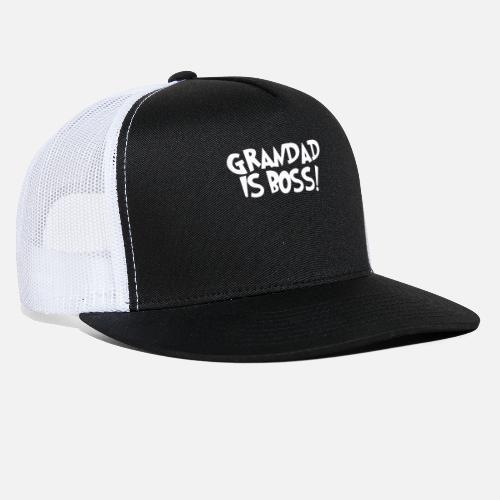 711f6778865 GRANDAD IS BOSS - Trucker Cap. Front