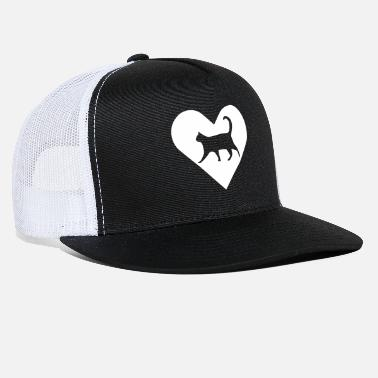 Heart-Cat (white) - Trucker Cap