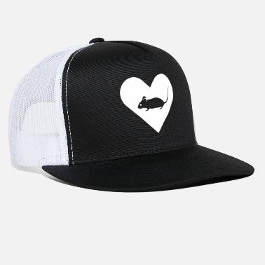 Heart-Mouse (white) - Trucker Cap