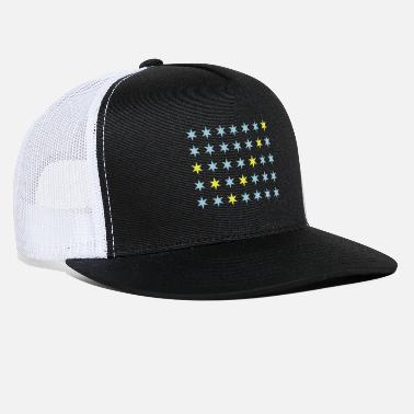 Rectangle Star pattern in rectangle - Check - Trucker Cap