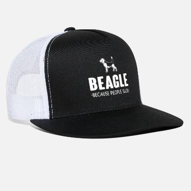School Sucks beagle people suck white - Trucker Cap