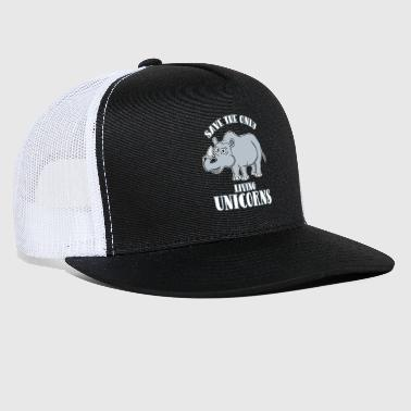 Save the only living unicorn rhinoceros - Trucker Cap