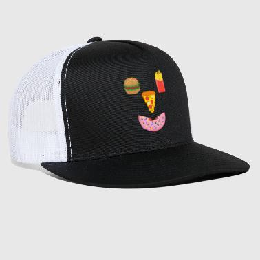 Fast Food Smiley - Trucker Cap