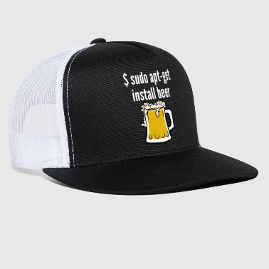 Linux Funny Gift - Linux Install Beer - Trucker Cap