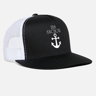 Captain His Anchor Her Captain Couple Matching - Trucker Cap