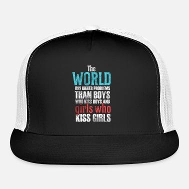 74ee69929bd The World Has Bigger Problems Grunge Design Trucker Cap