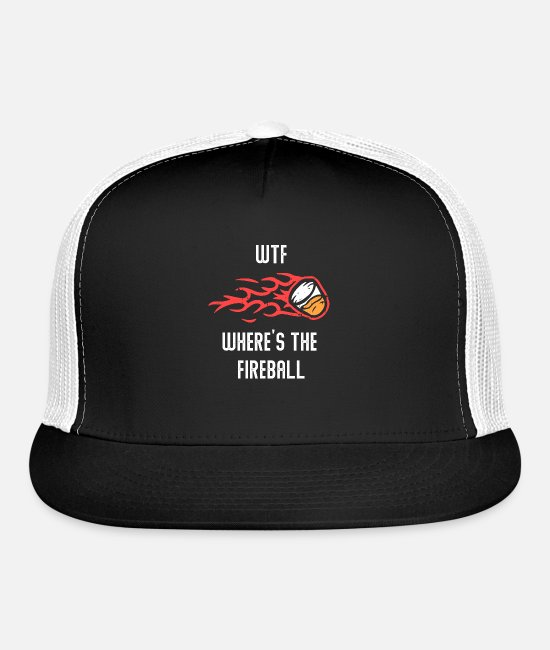 Fireball Caps & Hats - Wtf Where's The Fireball Liquor Alcohol Drinking - Trucker Cap black/white