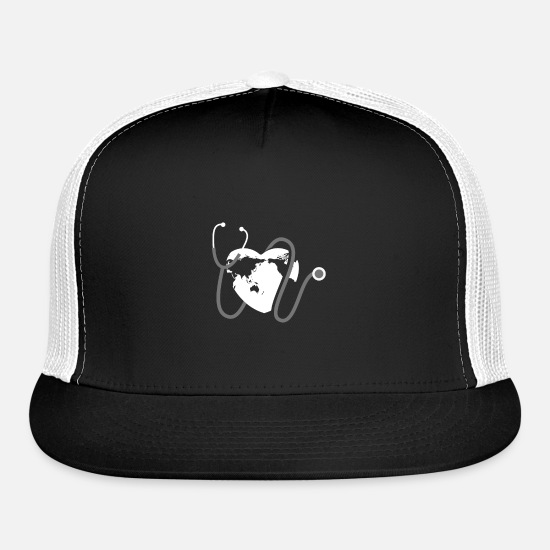Christmas Caps - Health Support Love And Care Gift Idea T-Shirt - Trucker Cap black/white