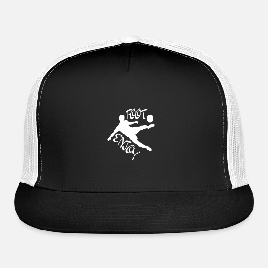 Gift Idea Caps - football footballer sports football fan football j - Trucker Cap black/white