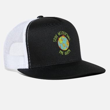 Save the Planet Nature Globe Woods Global Warming - Trucker Cap