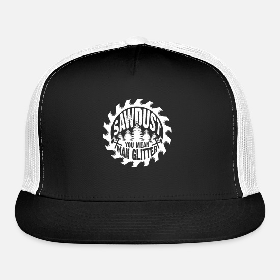 You Caps - Sawdust you mean man glitter - Trucker Cap black/white