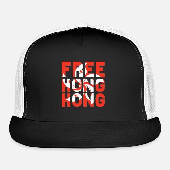 Hong Kong Caps - Free Hong Kong - Trucker Cap black/white