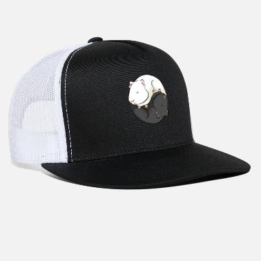 Sow Yin and Yang Guinea Pig Opposites Design - Trucker Cap
