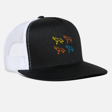 Growling Wolf Origami Wolves - Trucker Cap